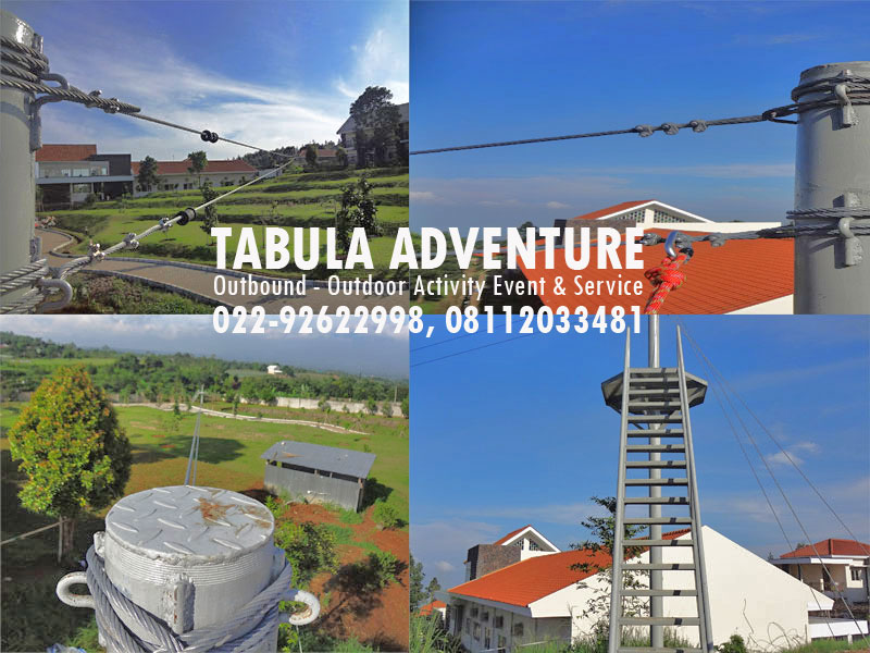 peralatan outbound flying fox
